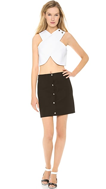 Carven Cross Front Crop Top