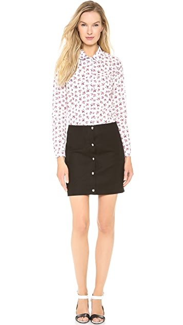 Carven Cotton Miniskirt