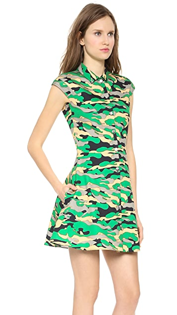 Carven Camouflage Printed Dress