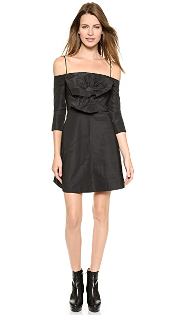 Carven Off Shoulder Dress