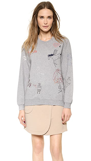 Carven Printed Sweatshirt