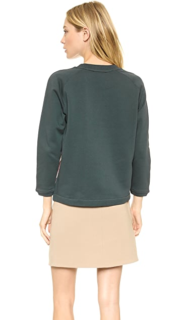 Carven Satin Panel Sweatshirt