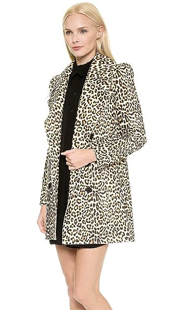 Carven Leopard Coat