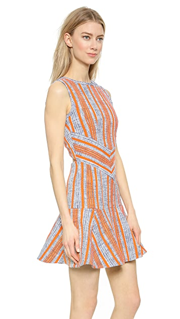 Carven Tweed Back Cutout Dress