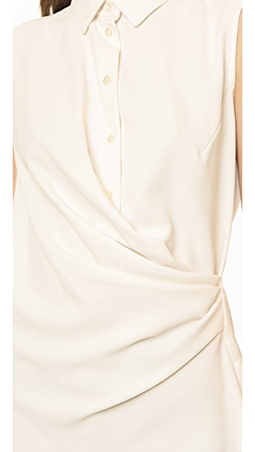 Carven Button Draped Top