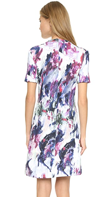 Carven Watercolor Sweatshirt Dress
