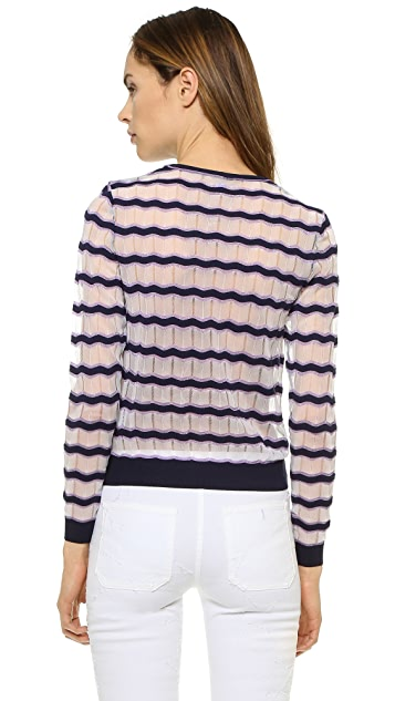 Carven Sheer Stripe Sweater
