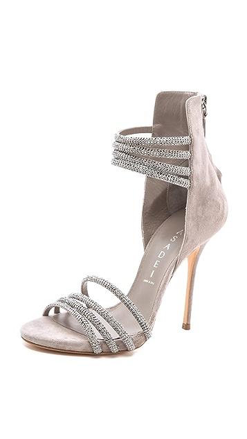 Casadei Suede Multi Strap Sandals