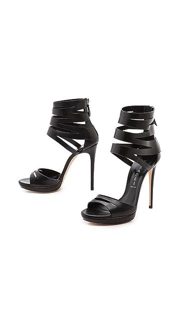 Casadei Strappy Cuff Heels