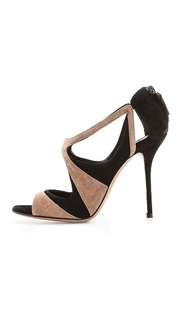 Casadei Suede Cutout Sandals