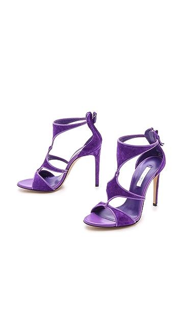 Casadei Cutout Suede Sandals