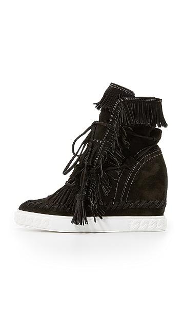 Casadei Fringe Sneaker Booties