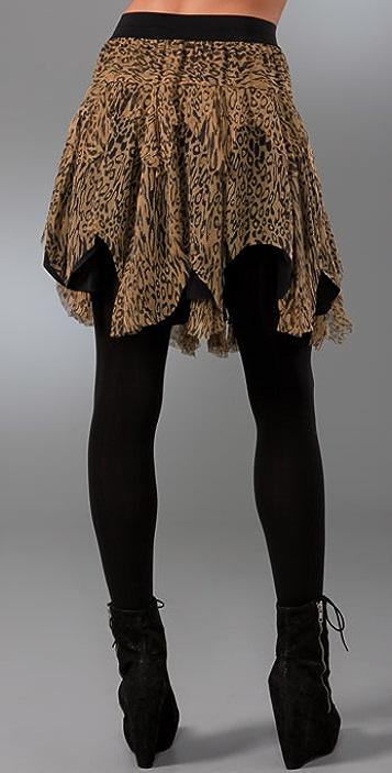 Catherine Malandrino Raw Edge Shredded Skirt