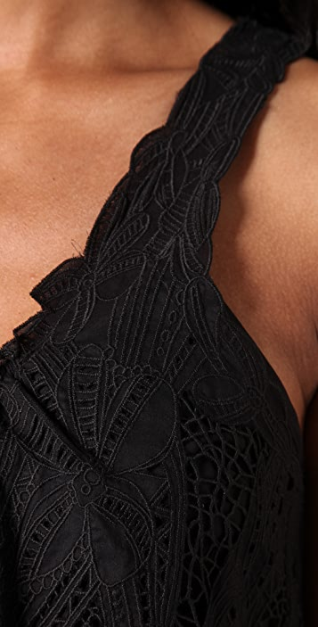 Catherine Malandrino Embroidered Shift Dress