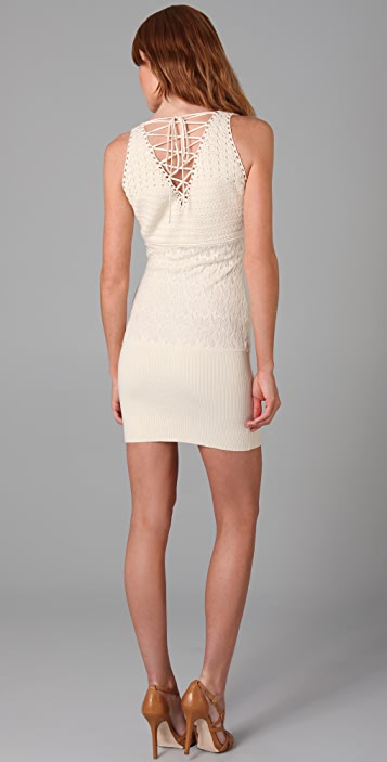 Catherine Malandrino Sleeveless Dress with Back Laces