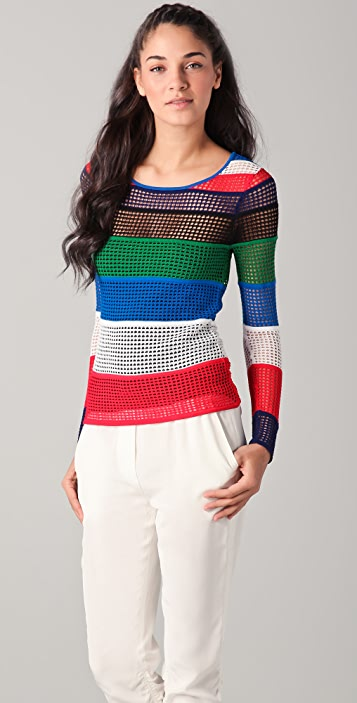 Catherine Malandrino Striped Sweater