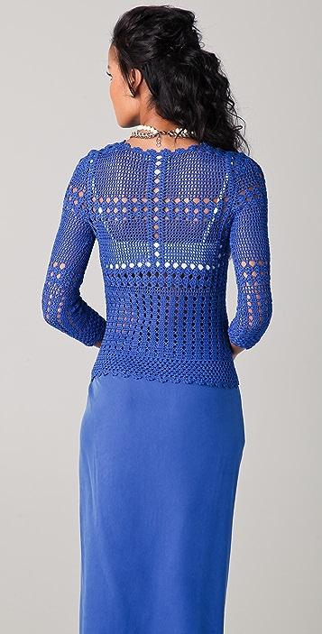 Catherine Malandrino Crochet Top