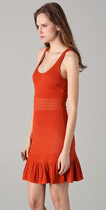 Catherine Malandrino Pointelle Tank Dress
