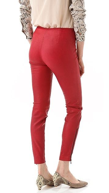 Catherine Malandrino Stretch Leather Pants