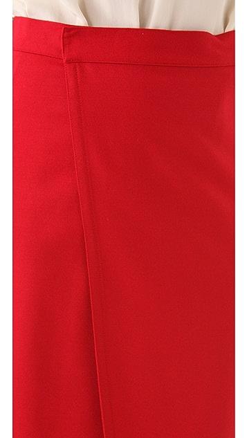 Catherine Malandrino Stretch Wool Skirt