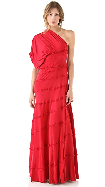 Catherine Malandrino One Shoulder Gown