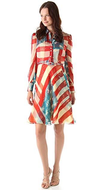 Catherine Malandrino Flag Dress