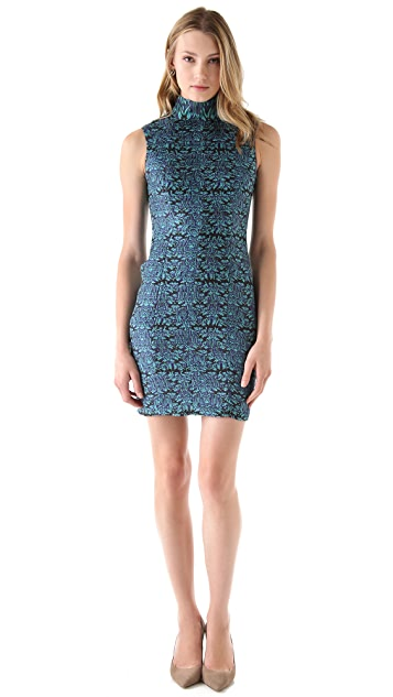 Catherine Malandrino Silhouette Mock Neck Dress