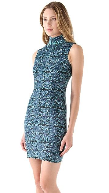 Catherine Malandrino Silhouette Mock Neck Dress