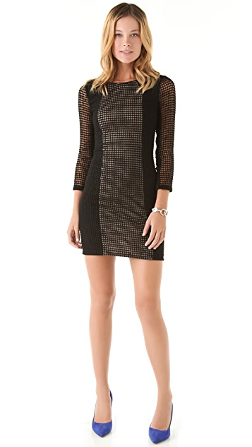 Catherine Malandrino Lace Combo Dress
