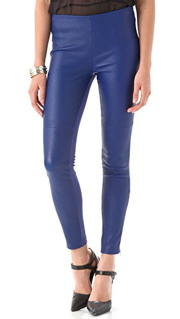 Catherine Malandrino Zip Up Leather Pants