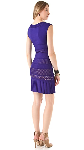 Catherine Malandrino Pointelle Cap Sleeve Dress