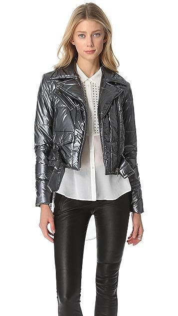 Catherine Malandrino Metallic Moto Jacket