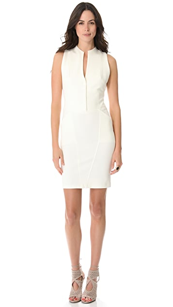 Catherine Malandrino Button Up Sleeveless Dress