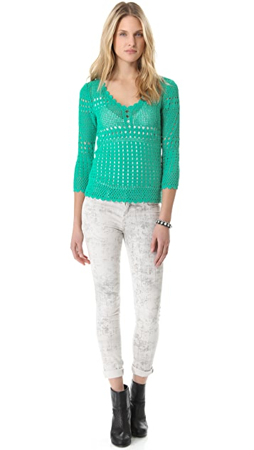 Catherine Malandrino Favorite Crochet Top