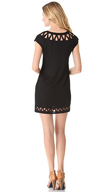 Catherine Malandrino Cap Sleeve Cutout Dress