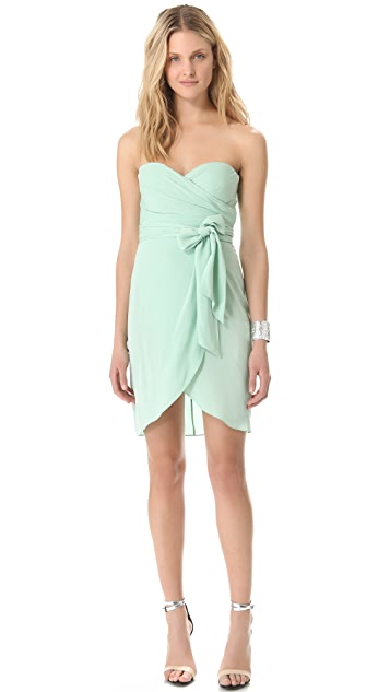 Catherine Malandrino Strapless Dress with Belt