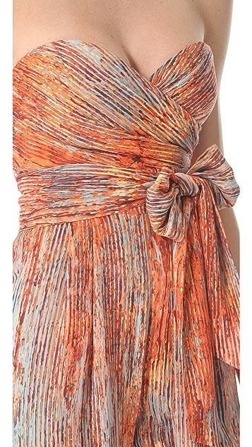 Catherine Malandrino Strapless Print Jumpsuit