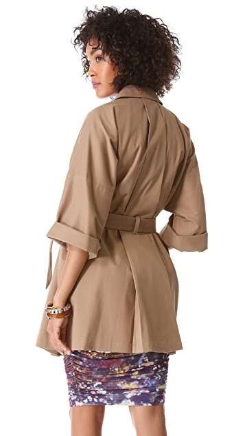 Catherine Malandrino Michelle 3/4 Sleeve Trench Coat
