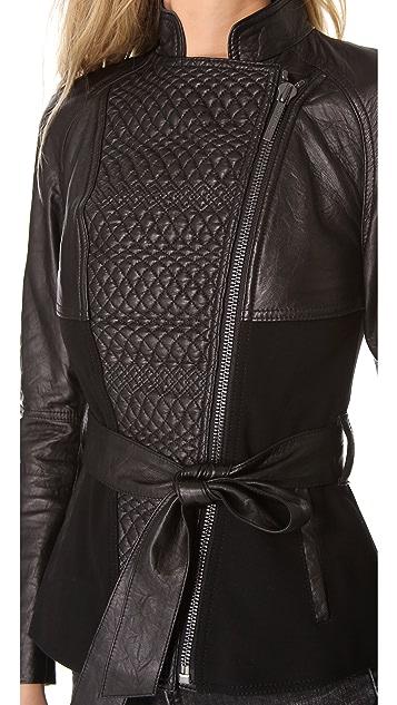 Catherine Malandrino Alfreda Quilted Leather Jacket