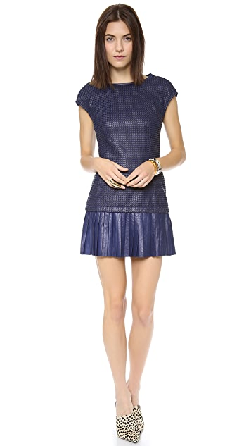 Catherine Malandrino Anjali Leather & Ponte Dress