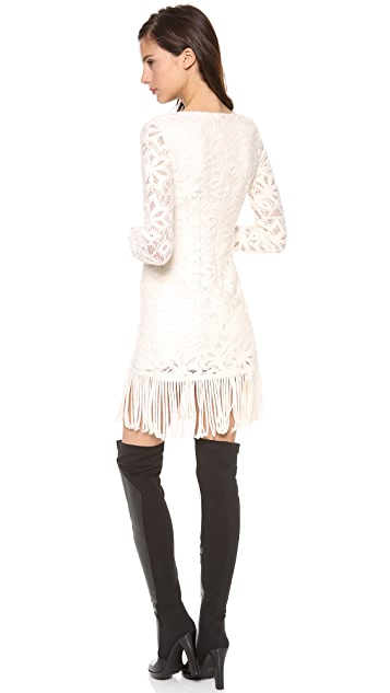 Catherine Malandrino Blythe Lace Dress with Fringe