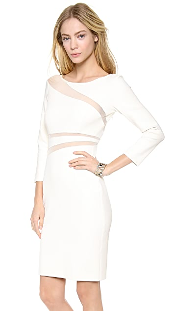 Catherine Malandrino Harper Dress with Cutout Mesh