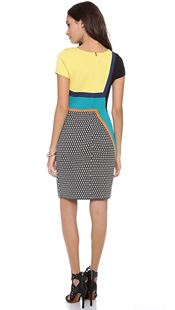 Catherine Malandrino Cora Cap Sleeve Square Neck Shift Dress