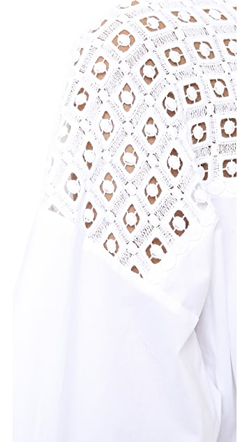 Catherine Malandrino Oversized Blouse with Shoulder Detail