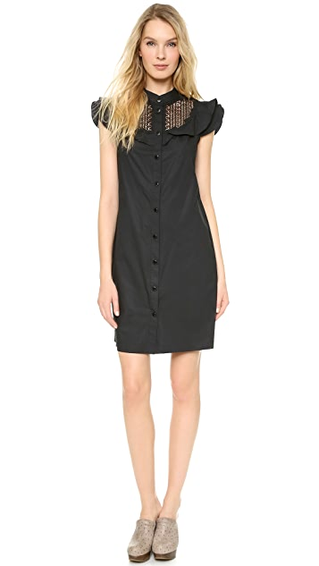 Catherine Malandrino Button Down Lace Shirtdress