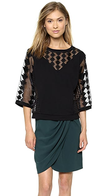 Catherine Malandrino Gabby Drop Shoulder Sweatshirt