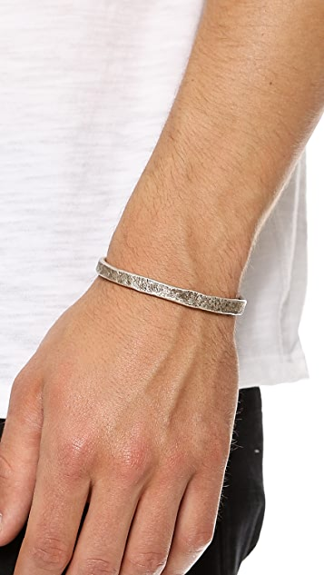 Cause and Effect Pounded Sterling Silver Cuff
