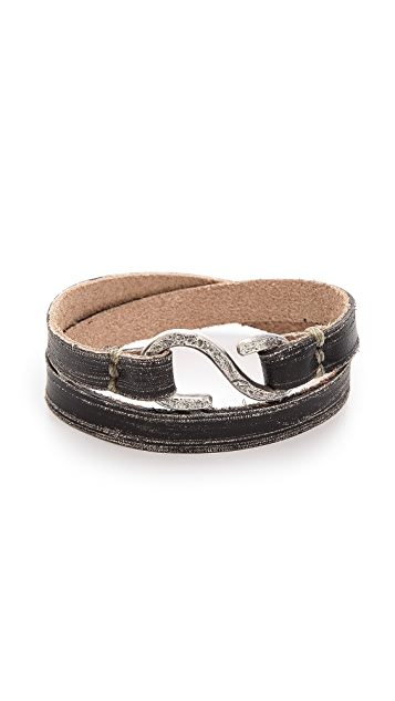 Cause and Effect Brushed Wrap Cuff