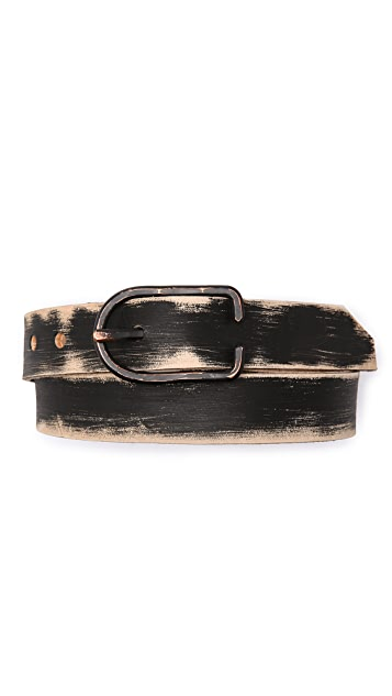 Cause and Effect Brushed Leather Belt