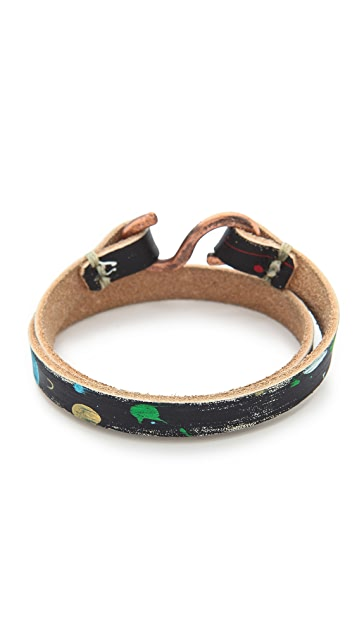 Cause and Effect Splatter Paint Double Wrap Bracelet